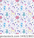 Christmas seamless pattern 34922863