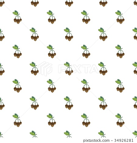 Acorns with leaves pattern 34926281