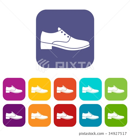 Men shoe icons set 34927517