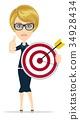 Marketing Target. Success concept portrait. 34928434