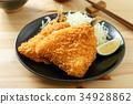 炸竹莢魚 油炸的 油炸食品 34928862