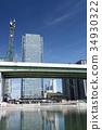 nagoycity, cityscape, blue sky 34930322