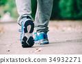 ผู้ชายกำลังเดิน 34932271