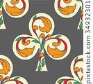 Poker Kreuz As Pattern 34932301
