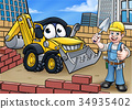 Construction Building Site Scene 34935402