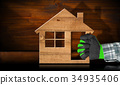 Wooden Model House - Construction Industry Concept 34935406