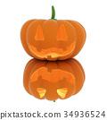 3d halloween pumpkin 34936524