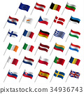 European Union country flags, member states EU 34936743