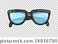 glasses, fashion, vector 34936790
