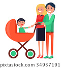 Parents Day Poster Depicting Family with Young 34937191