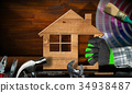 Home Improvement concept - House and work tools 34938487