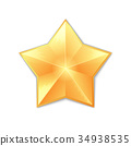 gold star isolated 34938535