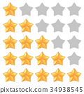 Five star rating. Different ranks 34938545
