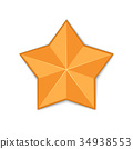 gold star isolated 34938553