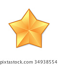 gold star isolated 34938554