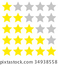 Five star rating. Different ranks 34938558