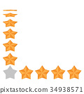 Five star rating. Different ranks 34938571