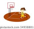 滴下的篮球女孩 34938801