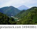 후지산, 산, 여름 산 34940861
