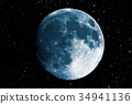 Super blue moon in the galaxy background 34941136