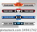 Scoreboard Digital Screeen Graphic Template 34941742