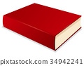 book, red, vector 34942241