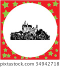 black 8-bit Neuschwanstein Castle 34942718