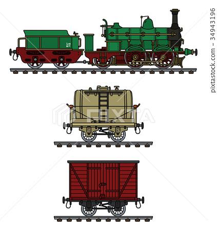 Historical steam train 34943196
