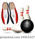 shoe bowling skittle 34943327