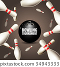 bowling skittle card 34943333