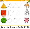 basic geometric shapes drawing worksheet 34944140