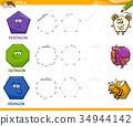 geometric shapes drawing worksheet 34944142