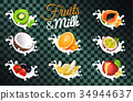 水果 草莓 奇異果 34944637