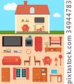 furniture, set, interior 34944783