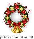 wreath, vector, xmas 34945636