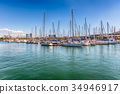 Sailboats in Port of Barcelona, Catalonia, Spain 34946917