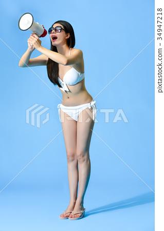 full length photo of elegant attractive woman 34947218
