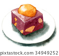 wagashi, japanese, confectionery 34949252