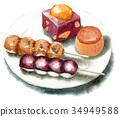 和果子 日本糖果 日式甜點 34949588