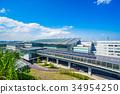 羽田机场 蓝天 蓝蓝的天空 34954250
