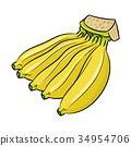 Isolated Banana cartoon -Vector Illustration 34954706