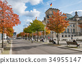 The Reichstag building, the german  parliament  34955147