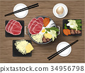 sukiyaki graphic design concept 34956798