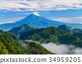중 葛城山에서 후지산 장마의 맑은 하늘 34959205