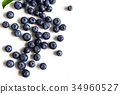 Juicy and fresh blueberries on white background 34960527