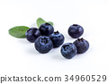 Close up of Juicy and fresh blueberries 34960529