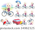 purple shirt old women White_city bicycle 34962325