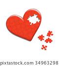 heart, puzzle, design 34963298