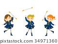 Stickman Kids Girls Majorette Exhibition 34971360