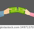 Hands Couple Money Trouble Illustration 34971370